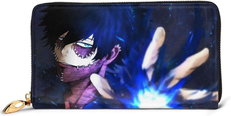 Manufacturer regenerated product My Hero Academia Cheap sale Dabi Leather Wallet Anime Cartoon Purse Zip Lon