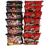 Samyang Ramen Feuernudeln - Korean Fire Noodle Set - 6 statt 5 Portionen pro Sorte (12x140g) - Vorteilspack 12 Portionen