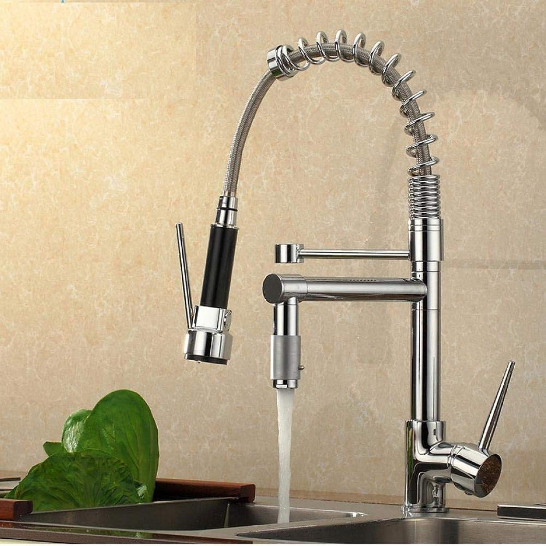 Spring Küchenarmatur mit zwei Auslufen Spültischarmaturen Einhebelmischer zur Standmontage Heies und kaltes Wasser