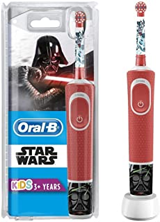 Oral-B D100.413.2K STAR WARS, Vitality D100 Rechargeable Toothbrush Star Wars for Kids 3+ Years, White/Red (Pack of 1)