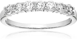 1/2 cttw 7 Stone Diamond Wedding Band 14K White or Yellow Gold