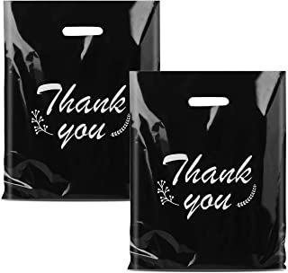Sponsored Ad - iPacky Plastic Thank You Bags for Business, Reusable Black Shopping Bags for Boutique, 12x15 Merchandise Ba...