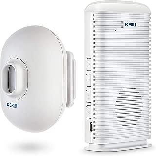 KERUI DW9 Driveway Alarm Wireless Weatherproof Outdoor PIR Motion Detector Indoor Chime Receiver DIY Entry Auto Doorbell Perimeter Entry Alert System for Home Shed Garage Shop Store Restaurant
