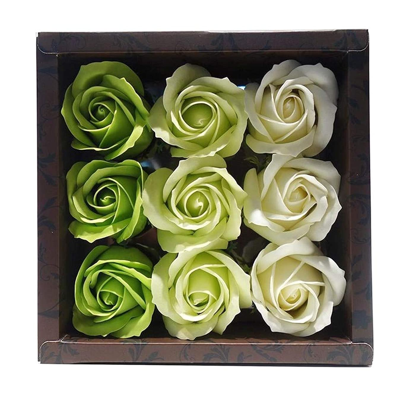 重要性もっともらしいパーチナシティ花のカタチの入浴料 ローズ バスフレグランス フラワーフレグランス バスフラワー (グリーン)