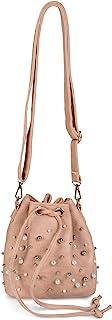 styleBREAKER kleine Bucket Bag Beuteltasche mit Perlen, Umhängetasche, Schultertasche, Handtasche, Tasche, Damen 02012248,...
