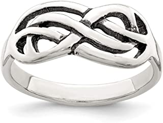 925 Sterling Silver Antiqued Knot Ring