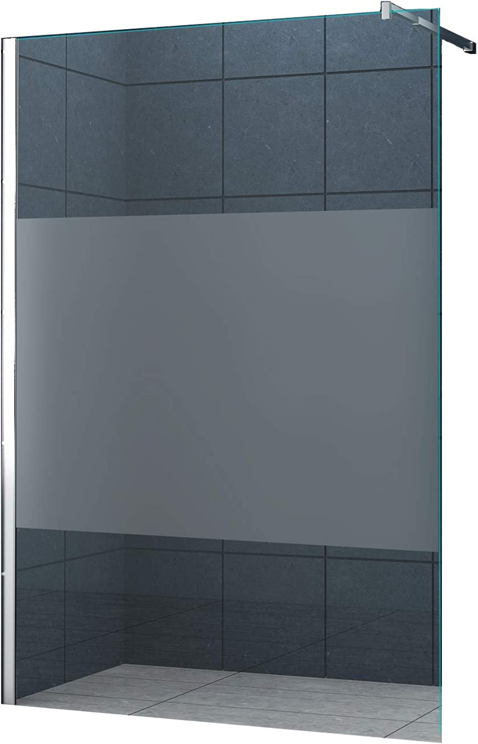 10 mm Duschabtrennung Düsseldorf-Cover 140 x 200 cm Dusche Duschtrennwand Duschwand
