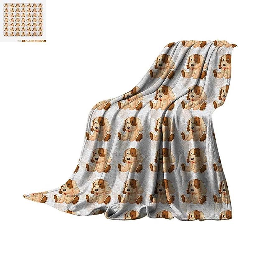 Luoiaax Dog Lover Lightweight Blanket Stuffed Toy Design Children Plaything Digitally Composed Animal Sitting Position Velvet Plush Throw Blanket 62
