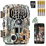 WiFi Bluetooth Trail Camera 48MP 4K, Game Hunting Cameras with Night Vision Motion...