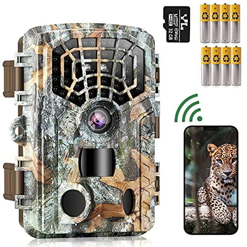 WiFi Bluetooth Trail Camera 48MP 4K, Game Hunting...