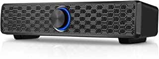 Archeer PC-luidspreker, pc, USB, 10 W, soundbar, computer, 3,5 mm jackstekker, bekabeld, met LED, volumeregeling, voor pc,...