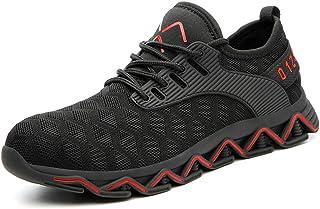 Chaussure de Securité Homme Femme Bottes Travail Chantiers Industrie Sneakers Protection Embout en Acier Basket de Sports ...