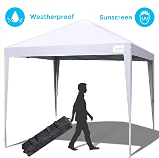 Quictent 10x10 Pop up Canopy Tent Commercial Instant Gazebo Party Tent Waterproof with Wheeled Carry Bag (White)
