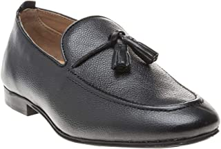 H by Hudson Cato Tassle Leather Mens Shoes Black
