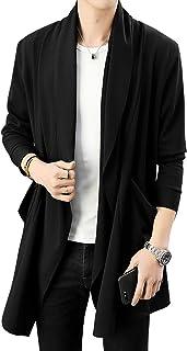 カーディガン メンズ コーディガン ストレッチ アウター 長袖 ロング コート ジャケット 羽織 薄手 無地 スリム トップス ファッション カジュアル シンプル ストールカーディガンジャケット