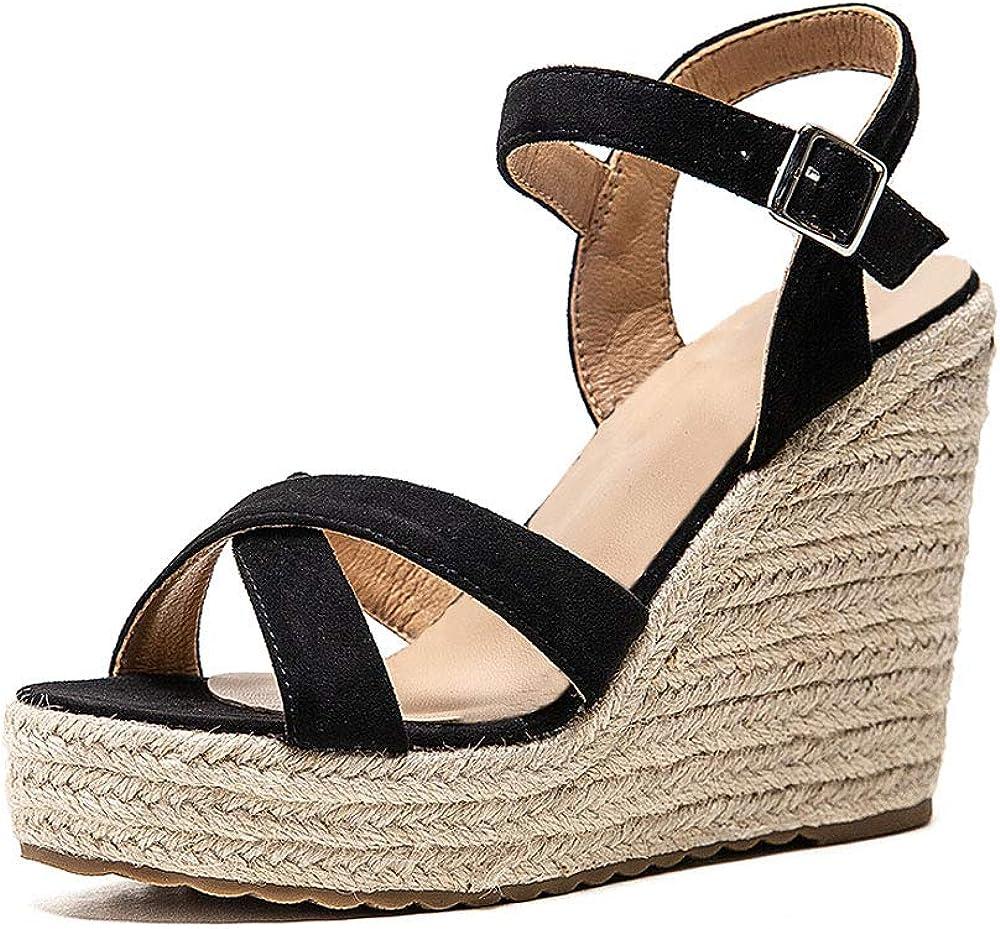 VICKI·VICKI Women's Platform Sandals Discount is also Very popular underway Wedge Ankle Strap Toe Open