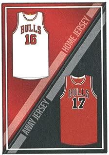 2016-17 Panini Stickers #80 Home/Away Jerseys Chicago Bulls Basketball Sticker