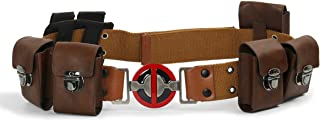 DP Cosplay Belt with Pockets Pouches Bag New Movie Version Wade Leather Waist Belt Halloween Costume Props