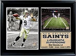 Encore Select 126-37 NFL New Orleans Saints Framed Super Bowl XLIV Champion Drew Brees Print, 12-Inch by 18-Inch