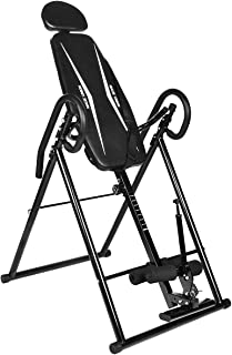 BAIJIAWEI Adjustable Gravity Inversion Table with Headrest & Protective Belt Back Stretcher Machine for Home Exercise