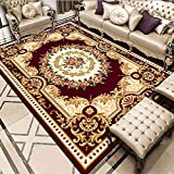 Alfombra de salón Grande, Vintage marrón Nuevo Palacio Chino Alfombra Antideslizante para el hogar, Felpudo Cuadrado,80X120(31X47inch)