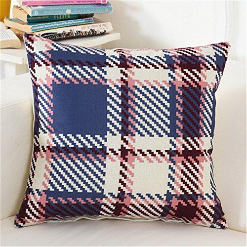 M&F MF carré à Carreaux géométrique Housse de Coussin Creative Taie d'oreiller pour Le Salon Salle de lit (45 x 45 cm)