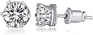 UMODE Jewelry 6 Prongs Crown Design Clear Cubic Zirconia CZ Simulated Diamond Stud Earrings for Women