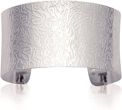 Tata Gisele rmband Manschettenkn e aus Sterling-Silber 925 000 odiniert Décor Arabesque Relief Durchmesser 58  34 Geld.