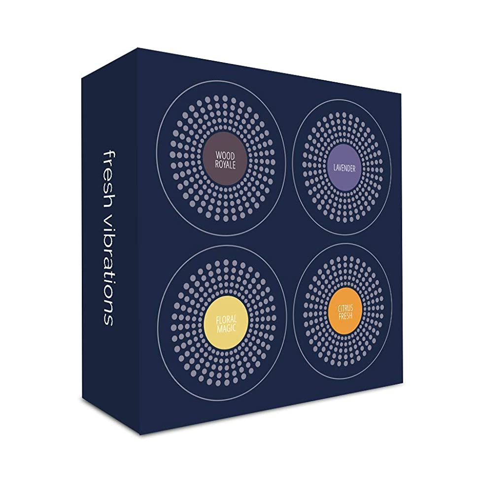 Moodo Smart Home Aroma Diffuser Fragrance Capsules - Refill Pods - 4 Pack (Fresh Vibrations)