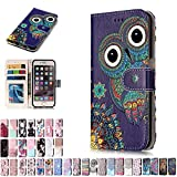 LA-Otter Huawei P8 Lite 2017 Case Owl Leather Case Wallet