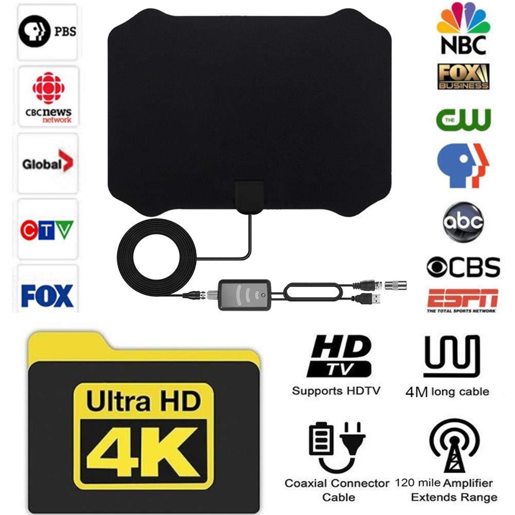 Antena de TV HD, (La última versión de 2019) Antena HDTV Ultra ...