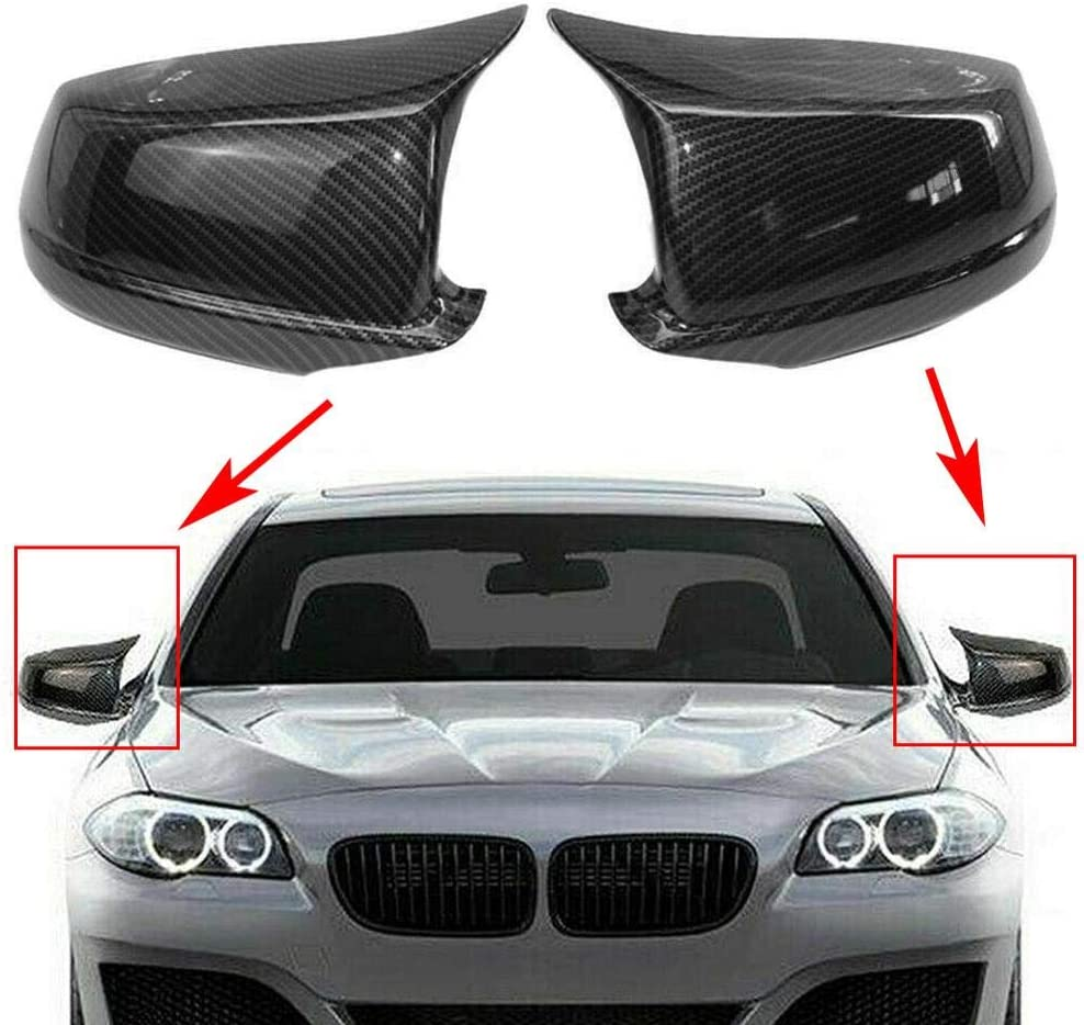 Three T Elegant 2pcs Car Side Rearview Cap Carbon Fiber Financial sales sale Shel Mirror