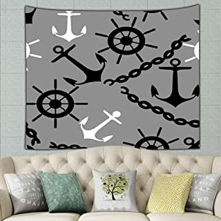 best bags Get Sea Anchor Illustrations Clip Art Tapestry Wall Hanging, Wall Tapestry with Art Nature Home Decorations for Living Room Bedroom Dorm Decor 90 X 60 Inches