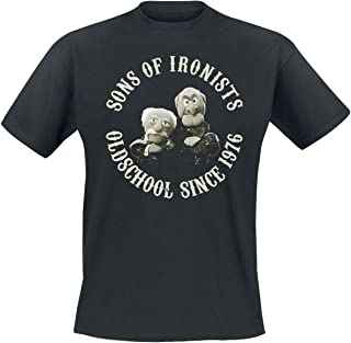 The Muppets Sons of Ironists Hombre Camiseta Negro, Regular