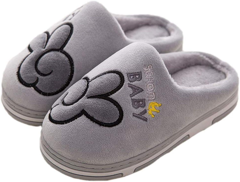 Winter Family Slippers Women Kids Cotton Cute Cartoon Harmonious Floor Soft Plus Size Female Warm Bedroom Indoor shoes