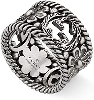 Gucci Interlocking G Silver Ring 12mm Size 9 (USA) YBC577272001019