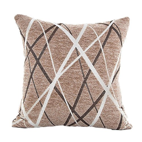 TWIFER Stilvolle Polyester Kissenhüllen Sofa Dekokissen Fall Home Decor (Braun,45x45cm)