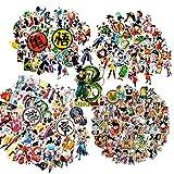 Laoji 250 pegatinas de anime de Dragon Ball Z, perfectas para fans de Dragonball, pegatinas de dibujos animados impermeables para teléfono, botella de agua, portátil, monopatín, motocicleta
