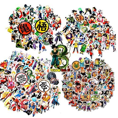Laoji Lot de 250 autocollants Dragon Ball Z, parfaits pour les fans de Dragonball, autocollants de dessin animé étanches pour téléphone, bouteille d'eau, ordinateur portable, skateboard
