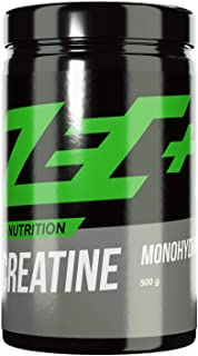 Zec+ Creatine Monohydrat Pulver, 500 g reines Creatin, zur Erhöhung der körperlichen..