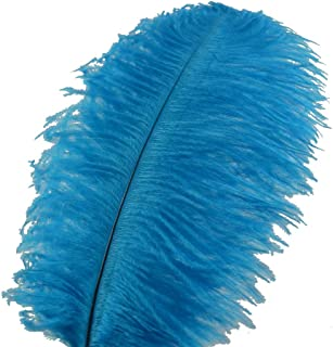 Sowder 10pcs Ostrich Feathers 12-14inch(30-35cm) Plume Home Wedding Decoration (Turquoise)