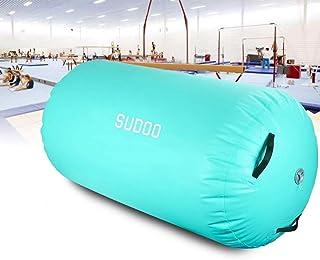 Triclicks Uppblåsbar luftrulle, 3 storlekar Air Roller Air Barrel uppblåsbara luftrullar användbar gymnastikmatta fitness ...