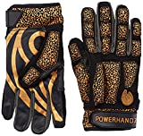 POWERHANDZ Weighted Anti-Grip Football Gloves for Strength and Resistance Training - Improve Dexterity and Arm Strength- Home Workout- X-Large- 1.0 lb