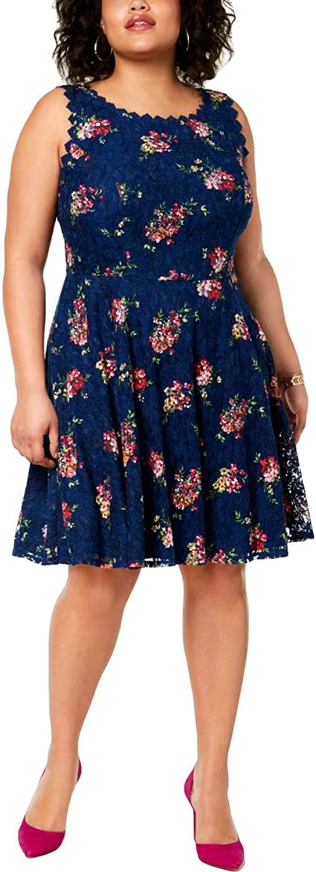 CityStudio Womens Plus Lace Short Cocktail Dress