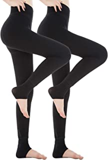 Womens Fleece Lined Leggings,Thick Warm Leggings,Elastic Tights Leggings,Thermal Winter Leggings