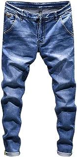 メンズジーンズ カジュアル ベーシック Fortan ジーパン ストレート フィット デニムパンツ ジーンズ 男性 秋冬着 ロング丈 デニム コットン生地 通気性 ロングパンツ 無地 大きいサイズ 旅行 通学 5色9サイズ