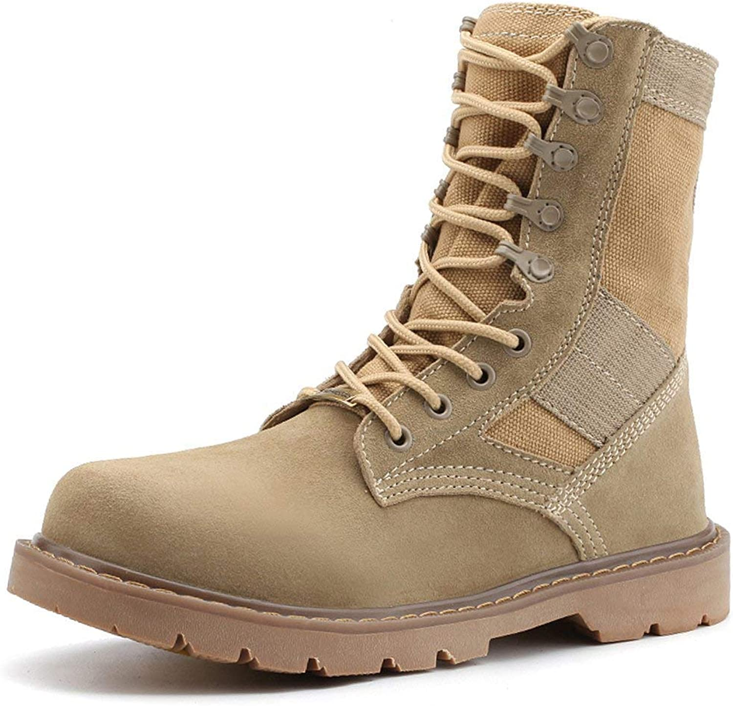 ZX Boots Men's Genuine Leather Desert Boots Jungle Boots Durable Outdoor Hiking Trekking Boots Combat Boots