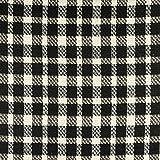 Wollmix Glencheck Karo schwarz weiß Modestoffe - Preis