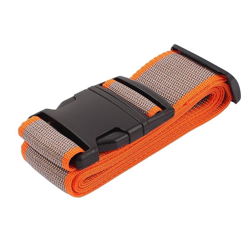 犠牲着替える地中海uxcell 荷物ストラップ 荷物バック 安全ベルト スーツケース 旅行用 オレンジ グレー 2M