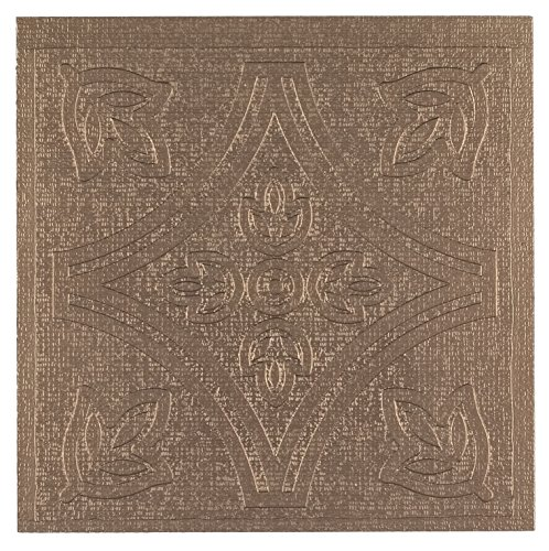 Achim Home Furnishings Metallo Peel & Stick Vinyl Wall Tiles, 4 by 4-inch, Copper, 27-Pack